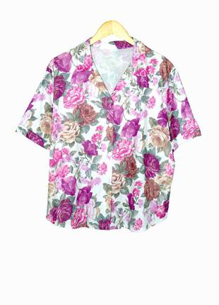 Блуза/рубашка в цветочный принт