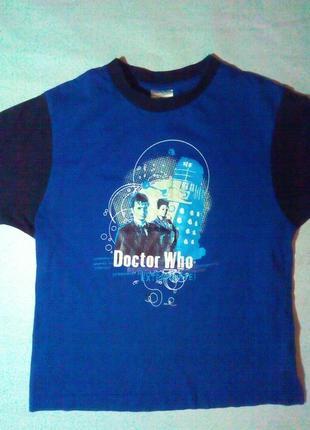 Футболка на 7-8 лет. doctor who.