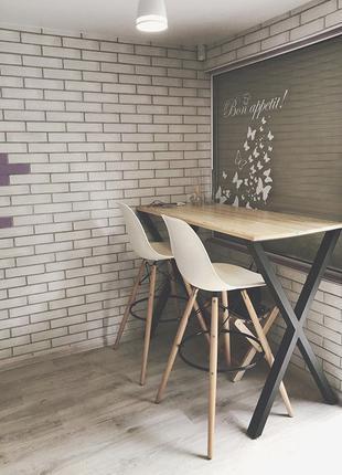 Стол и стулья в стиле лофт