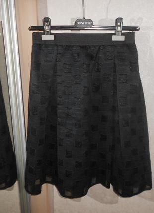 Распродажа! o'dett шикарная юбка из фактурной ткани, италия, р.м