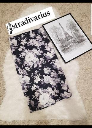 🔥🔥🔥стильная юбка-карандаш в цветочный принт в идеальном состоя...