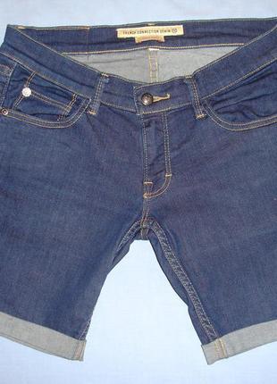 Шорты женские джинсовые размер 44 / 10 м джинсовые темные коро...