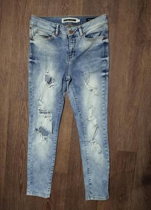 ❤️❤️❤️рваные завышеные джинсы скинни мом высокая посадка укоро...
