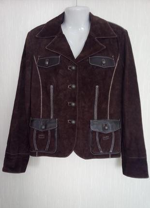 Шикарная замшевая курточка eu 46 reloaded.