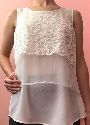 Блуза без рукава, летняя блуза