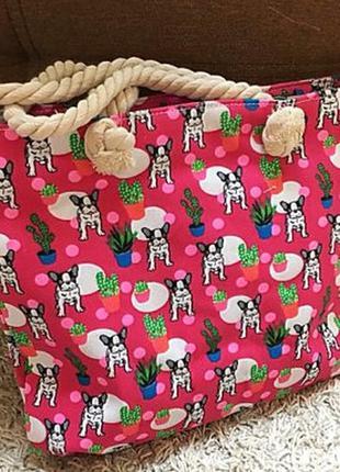 Пляжная сумка с канатными ручками