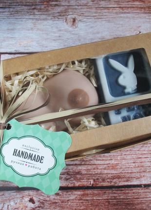 Оригинальный подарочный набор мыла ручной работы Мачо