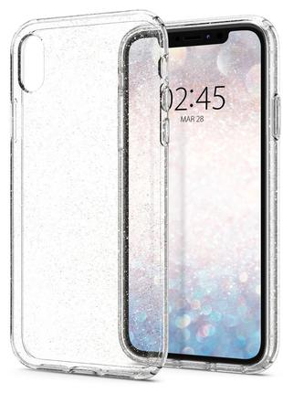 Чехол Spigen Liquid Crystal Glitter для iPhone XR Crystal Quartz