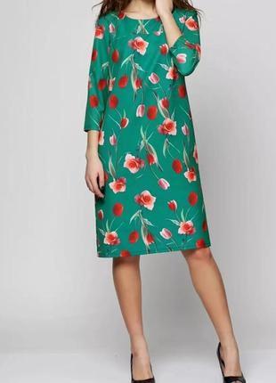 Платье в цветочный принт тюльпан ut
