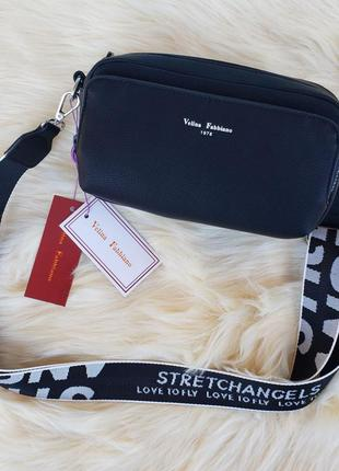 Женская стильная сумка через на плечо velina fabbiano жіноча с...
