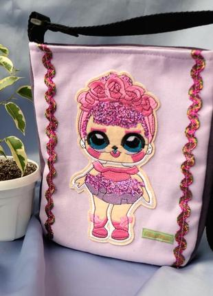 Детская сумочка с куклой лол