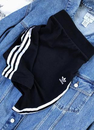 Трикотажная юбка adidas черная