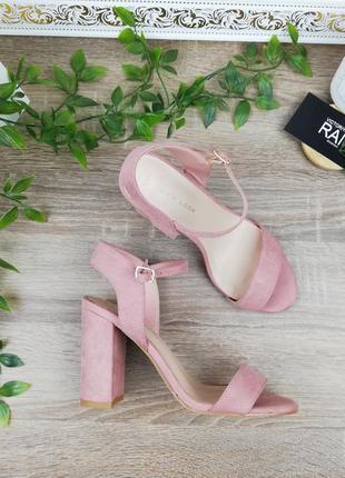 🌿37🌿европа🇪🇺 new look. нежные босоножки на устойчивом каблуке