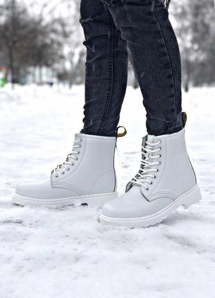 Dr.martens шикарные женские ботинки мартинс с мехом (осень-зим...