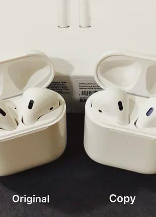 Lux Copy AirPods 2 with Wireless Charging - попробуй отличить
