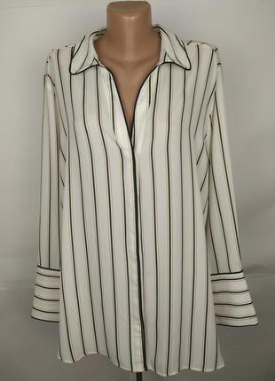 Блуза тредовая в полоску большой размер marks&spencer uk 20/48...