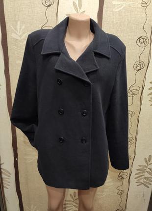 Lady line черное шерстяное демисезонное полупальто, пальто