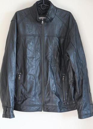 Кожаная куртка, пиджак класса люкс из кожи nappa 52-54