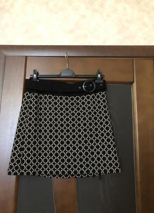# розвантажуюсь. тёплая трикотажная юбка трапеция от бренда ta...