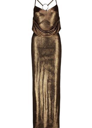 Вечернее бронзовое платье длинное макси металлик в пол вечірня...