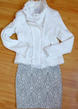 """Жакет, белый твидовый пиджак в стиле """"шанель"""" carolina belle s"""