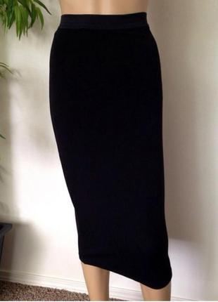 Черная юбка карандаш миди divided от h&m, размер s