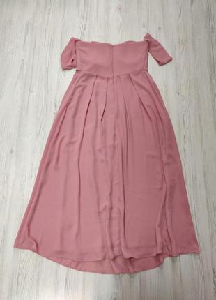 Ликвидация товара 🔥 темно розовое платье миди бандо