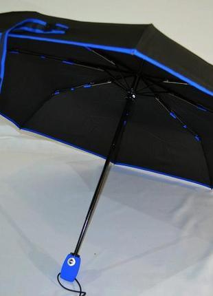 Зонт автомат карманный антиветер с каймой