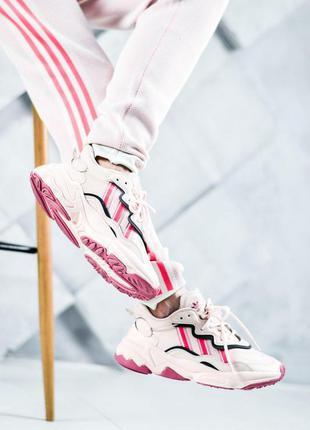 Adidas женские кроссовки адидас розовый цвет (весна-лето-осень)😍