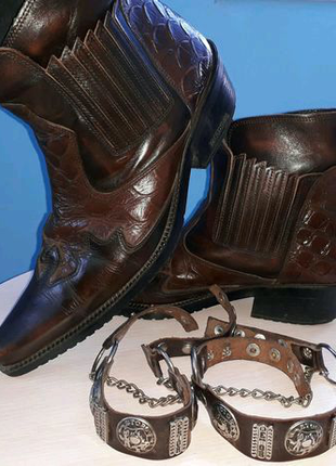 Мужские ботинки-казаки Etor