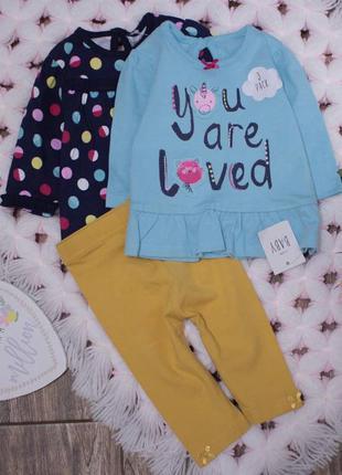 Комплект костюмчик на новорожденную модницу