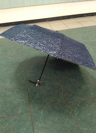 Зонт серебряная абстракция полуавтомат антиветер.