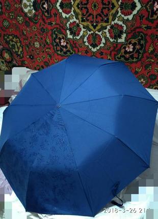 Зонт проявляющийся полуавтомат с прорезиненной ручкой для удоб...