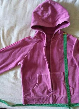 Толстовка,худи,кофта с капюшоном на замочке,велюровая,розово-с...
