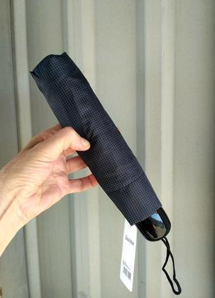 Зонт карманный механический в клетку.