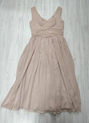 Ликвидация товара 🔥 розовое шифоновое платье миди