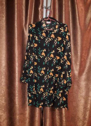 Красивое платье рубашка  большого размера от papaya