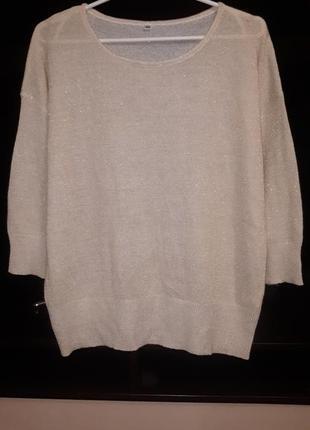 Свободный свитер с люрексом раз.xl