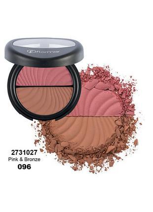 Двойные румяна Flormar Pink & Bronze
