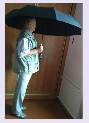 Семейный зонт автомат диаметр 119см антиветер.
