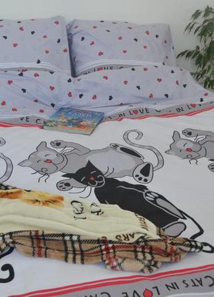 Красивый комплект постельного белья том и джери, новый
