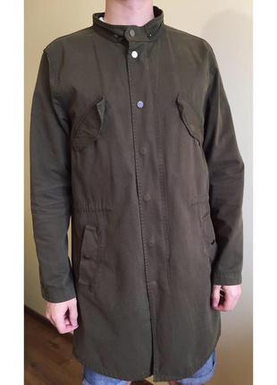 Пальто, куртка, плащ хакі, зелений, чоловічий.