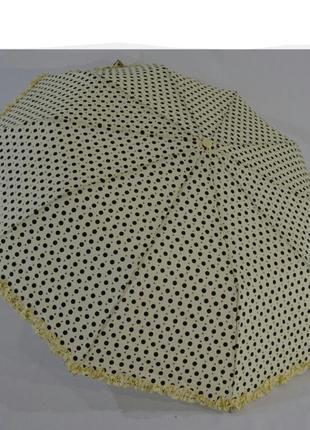 Зонт с рюшей в горошек полуавтомат на 10 крепких спиц