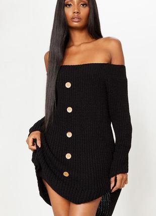 Платье короткое. вязаное платье