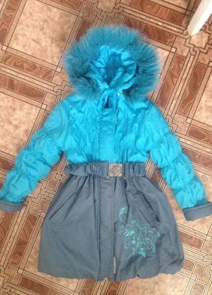 Куртка на девочку  6-8 лет