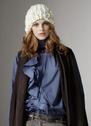 -50%🔥🔥🔥 шапка бини крупной вязки белая