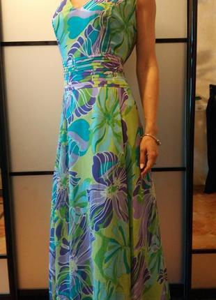 Очень красивое цветочное длинное платье сарафан в пол макси пр...