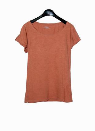 Женская футболка терракотового цвета garcia