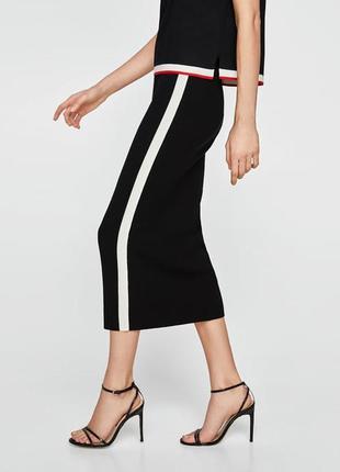 Новая юбка , миди, карандаш с лампасами отnew look