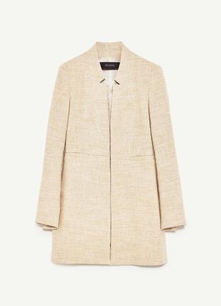 Удлиненный пиджак, жакет-сюртук с лацканами  zara